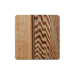 Wood Grain Texture Brown Square Magnet