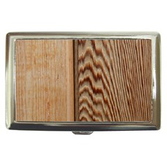 Wood Grain Texture Brown Cigarette Money Cases