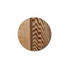 Wood Grain Texture Brown Golf Ball Marker (4 Pack)
