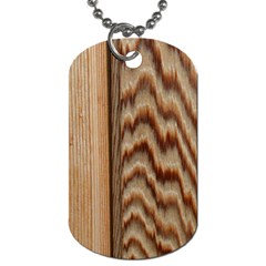 Wood Grain Texture Brown Dog Tag (two Sides)