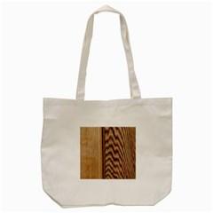 Wood Grain Texture Brown Tote Bag (Cream)