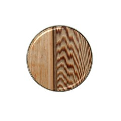 Wood Grain Texture Brown Hat Clip Ball Marker (4 Pack)