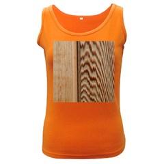 Wood Grain Texture Brown Women s Dark Tank Top