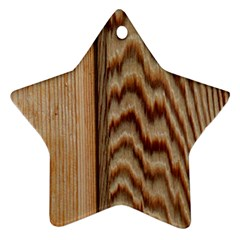 Wood Grain Texture Brown Star Ornament (two Sides)