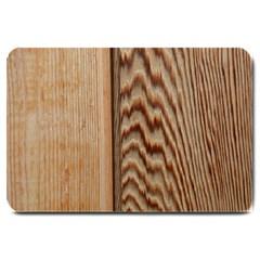 Wood Grain Texture Brown Large Doormat