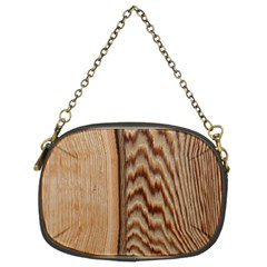 Wood Grain Texture Brown Chain Purses (two Sides)