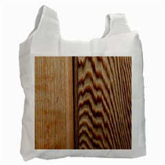 Wood Grain Texture Brown Recycle Bag (two Side)
