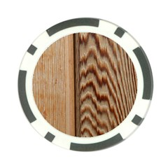 Wood Grain Texture Brown Poker Chip Card Guard (10 Pack)