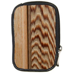 Wood Grain Texture Brown Compact Camera Cases