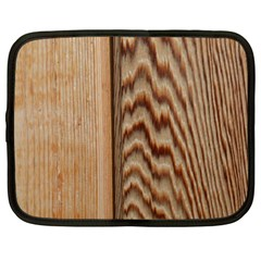 Wood Grain Texture Brown Netbook Case (xxl)