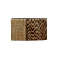 Wood Grain Texture Brown Cosmetic Bag (Small)