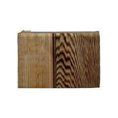 Wood Grain Texture Brown Cosmetic Bag (medium)