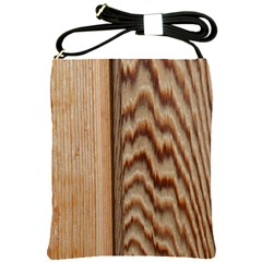 Wood Grain Texture Brown Shoulder Sling Bags
