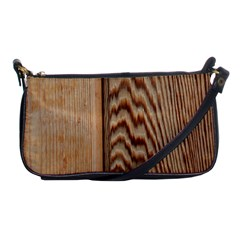 Wood Grain Texture Brown Shoulder Clutch Bags
