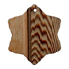 Wood Grain Texture Brown Snowflake Ornament (two Sides)