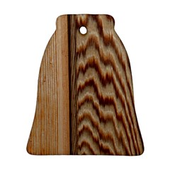 Wood Grain Texture Brown Bell Ornament (two Sides)