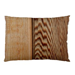 Wood Grain Texture Brown Pillow Case (two Sides)