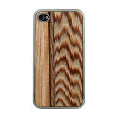 Wood Grain Texture Brown Apple Iphone 4 Case (clear)