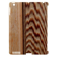 Wood Grain Texture Brown Apple iPad 3/4 Hardshell Case (Compatible with Smart Cover)