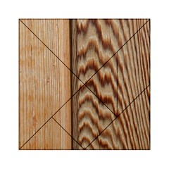 Wood Grain Texture Brown Acrylic Tangram Puzzle (6  X 6 )