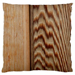 Wood Grain Texture Brown Large Cushion Case (one Side)