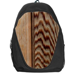 Wood Grain Texture Brown Backpack Bag