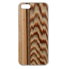 Wood Grain Texture Brown Apple Seamless Iphone 5 Case (clear)