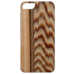 Wood Grain Texture Brown Apple Iphone 5 Classic Hardshell Case