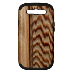 Wood Grain Texture Brown Samsung Galaxy S Iii Hardshell Case (pc+silicone)