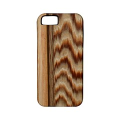 Wood Grain Texture Brown Apple Iphone 5 Classic Hardshell Case (pc+silicone)