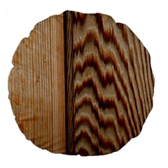 Wood Grain Texture Brown Large 18  Premium Round Cushions
