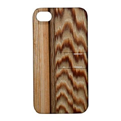 Wood Grain Texture Brown Apple Iphone 4/4s Hardshell Case With Stand