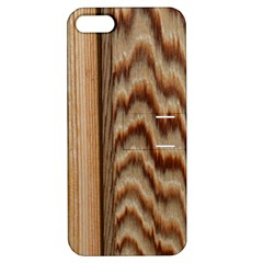 Wood Grain Texture Brown Apple Iphone 5 Hardshell Case With Stand