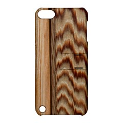 Wood Grain Texture Brown Apple Ipod Touch 5 Hardshell Case With Stand
