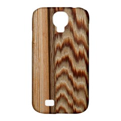 Wood Grain Texture Brown Samsung Galaxy S4 Classic Hardshell Case (PC+Silicone)