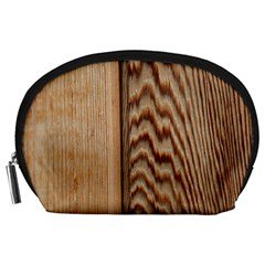 Wood Grain Texture Brown Accessory Pouches (large)