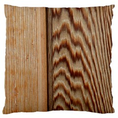 Wood Grain Texture Brown Standard Flano Cushion Case (two Sides)