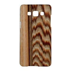 Wood Grain Texture Brown Samsung Galaxy A5 Hardshell Case