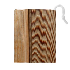 Wood Grain Texture Brown Drawstring Pouches (extra Large)