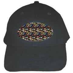 Abstract Pattern Design Artwork Black Cap
