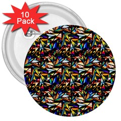 Abstract Pattern Design Artwork 3  Buttons (10 Pack)