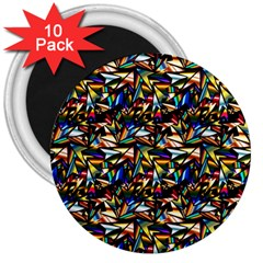 Abstract Pattern Design Artwork 3  Magnets (10 pack)