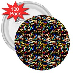 Abstract Pattern Design Artwork 3  Buttons (100 pack)