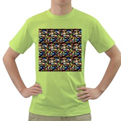 Abstract Pattern Design Artwork Green T Shirt