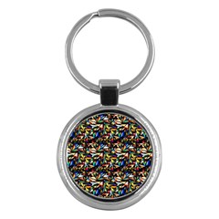 Abstract Pattern Design Artwork Key Chains (round)