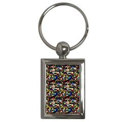Abstract Pattern Design Artwork Key Chains (rectangle)
