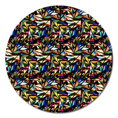 Abstract Pattern Design Artwork Magnet 5  (Round)