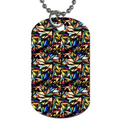 Abstract Pattern Design Artwork Dog Tag (one Side)
