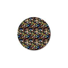 Abstract Pattern Design Artwork Golf Ball Marker