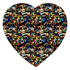 Abstract Pattern Design Artwork Jigsaw Puzzle (heart)